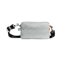SKAH casual one shoulder diagonal bag Light Gray
