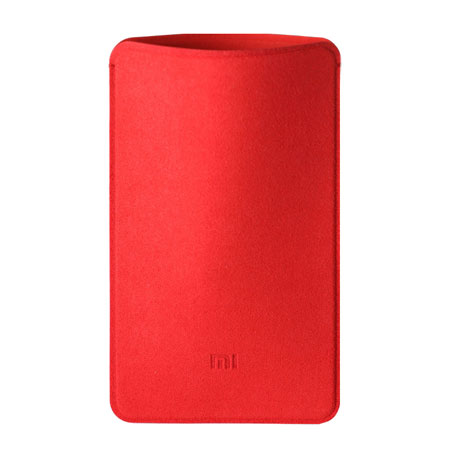 Xiaomi Mi Power Bank 5000mAh Microfiber Pouch Case Red