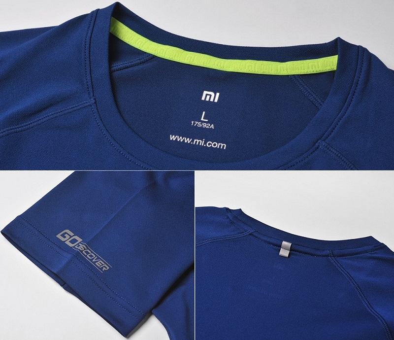 Xiaomi Mi Sports Function Men`s T-shirt Blue Size L